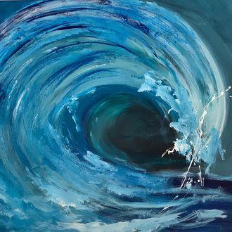 Die Welle, 70 cm x 80 cm, Preis in EUR 720,00