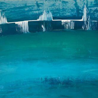 Blaue Lagune, 70 cm x 87 cm, Preis in EUR 730,00